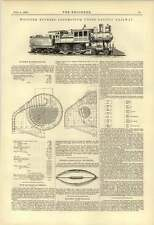 1888 Wootton Express Locomotive Union Pacific Railway Chase Combination Spring