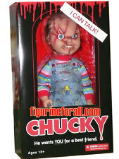 "CHILD'S PLAY TALKING CHUCKY 15"" MEGA SCALE DOLL Sound Bride Good guy Mezco Scars"