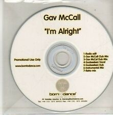 (CU531) Gav McCall, I'm Alright - DJ CD