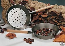 Eddingtons Traditional Steel Chestnut Roaster Pan with Wooden Handle 27cm 47CR2