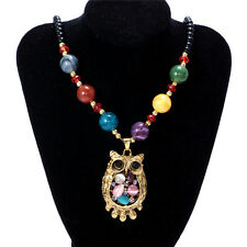 Women's Vintage Owl Fashion Jewelry Hot Charm Crystal Pendant Necklace NEW  C3