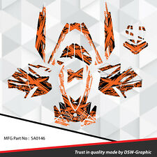SKI-DOO XP MXZ SNOWMOBILE SLED WRAP GRAPHICS STICKER DECAL KIT 2008-2013 SA0146