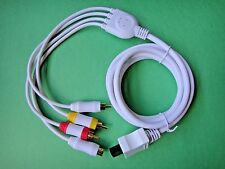 """ON SALE"" White HD Premium Component S-Video AV cable for Nintendo WII US Seller"
