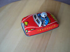 Vintage Tinplate Torpeauto Powered Mechanism Car  Made In Hungary  #470