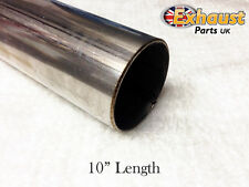 "250mm Section 10"" T304 TUBE 57mm Stainless Steel Exhaust Repair Pipe 2.25 2 1/4"""