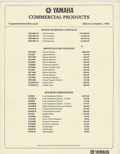 #MISC-0083 - OCT 1 1981 YAMAHA MUSIC COMMERCIAL PRODUCTS CATALOG PRICE LIST