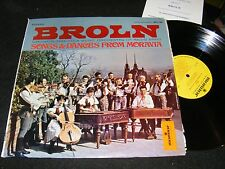 BROLN Czech FOLK MUSIC Orchestra LP SONGS & DANCES from MORAVIA w Program 1971