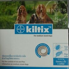 Kiltix Tick & Flea Control Medium Dog Size M 53cm Lasts 5-6 Months Dog Collar