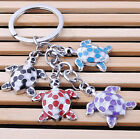 FD1163 Sweet Cute Turtle Metal Keychain Keyring Keyfob Key Ring Car Keyring