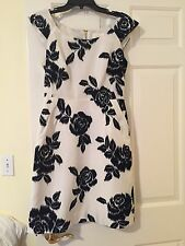 Kate Spade dress white/navy size 4