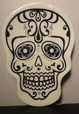 Day of the Dead Sugar Skull Dish (White)