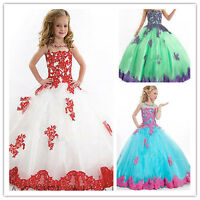 Flower Girl Dresses for Wedding Birthday Princess Prom Ball Gown Pageant Party