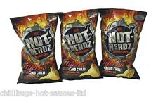 """Hot Headz habanero Inferno fichas"" 3 X 57g Bolsas-Hot Chilli las patatas fritas"