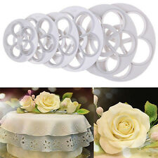 Fondant Cake Sugarcraft Mold Rose Flower Decorating Cookie Gum Paste Cutter Tool