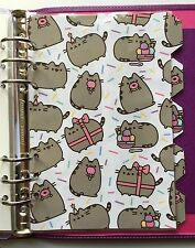 Filofax A5 Organiser Planner - Pretty Pusheen the Cat Dividers - Fully Laminated