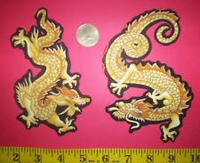 New! Cool! Golden Dragons IRON-ONS FABRIC APPLIQUES IRON-ONS