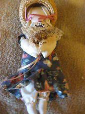 """Vintage Stuffed Cloth Fabric Doll Bunny Rabbit  9"""" Collectible CL10-13"""