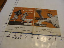 vintage book: 2 The Packfard Sports Library FOOTBALL booklets 1951 & 52