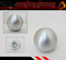 M10 X 1.25 MITSUBISHI LANCER EVO RALLIART BRUSHED ROUND SILVER SHIFT KNOB BALL