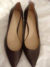 Nine West women's shoes, Izabela, 7M, NWOB, brown, 2-in kitten heel, leather up