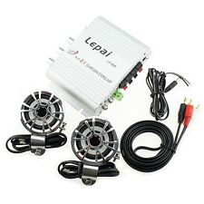 Mini Radio MP3 Stereo Car Bike Hi-Fi Amplifier 200W 12V