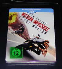 MISSION: IMPOSSIBLE ROGUE NATION GEPRÄGTE LIMITIERTE STEELBOOK ZWEI BLU RAY NEU