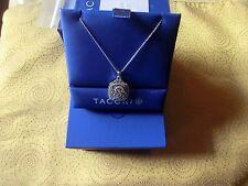 TACORI 18K White Gold Initial P Monogram Diamond Necklace pendant
