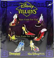 Disney Parks Villains Characters Ornament Style Shoes 7-Pin Booster Pack Set NEW