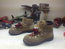 VINTAGE MOUNTBLANC BROWN LEATHER LACE UP MOUNTAIN ENGINEER BOSS TRAIL BOOTS 9 D