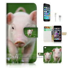 iPhone 6 / 6S (4.7') Flip Wallet Case Cover! P1784 Cute Pig