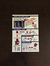 Nintendo Popeye Arcade control panel instruction card!