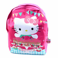 Hello Kitty Backpack School Bag Childrens Pink Cute Travel Organiser Party Sleep