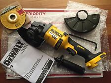 "DEWALT DCG414B 60V FLEXVOLT Brushless Cordless 4-1/2""- 6"" Angle Grinder with BAG"