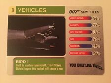 You Only Live Twice Bird 1 #8 Vehicles - 007 James Bond Spy Files Card