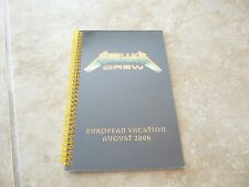 Metallica European Vacation August 2008 RARE Concert Band Tour Itinerary Book