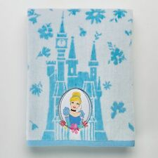 CINDERELLA DISNEY BATH TOWEL PLUSH! NEW! FREE SHIP! PRINCESS CINDERELLA! BLUE!