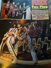KISS 16 Page Fan Mag with Discography 1980's Stanley Simmons Vinnie Ace Frehley