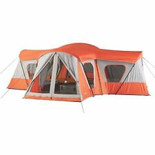 Large Camping Instant Tent 14 Person 20' x 20' Base Camp Orange Cabin Canopy New