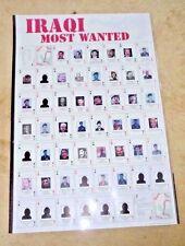 VINTAGE POSTER IRAQ IRAQI MOST WANTED SADDAM HUSAYN AL TIKRITI DECK OF 52 2003