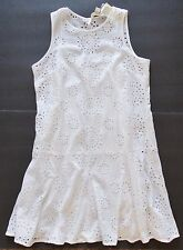 New Michael Kors white lined eyelet tank dress womens size 10