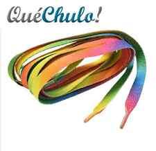 CORDONES MULTICOLOR ARCOIRIS ORGULLO GAY SHOELACE RAINBOW GAY PRIDE 120 CM