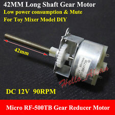 DC 12V 90RPM Long Shaft RF-500TB Micro Gear Reducer Motor Toy Mixer Boat Model