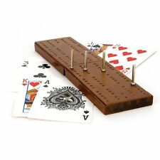 CLASSIC WOODEN CRIBBAGE CRIB BOARD PLAYING CARDS SET PEGS FAMILY TRAVEL GAME