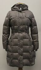 NWT WOMEN'S DKNY FASHION WARM 3/4 DOWN COAT W/ HOOD COLOR MUSHROOM SIZE S