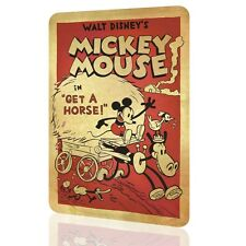 METAL SIGN MICKEY MOUSE Disney Decor Classic Poster Wall Art Home Decor Bed Art