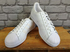 ADIDAS SUPERSTAR UK 4 Unisex shelltoe Blanco ORIGINALS Cuero Entrenadores RRP £ 70