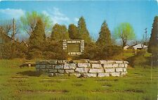 GREENVILLE OHIO ALTAR OF PEACE~KINDLING OF COUNCIL FIRE~FORT GREEN POSTCARD 1959