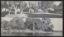 1950s POSTCARD LAKE WALES FL/FLORIDA JENNINGS FISHING CAMP DUAL VIEW