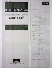 Vintage Sansui AU-217,317,417,517,717,719, 919 Stereo Amplifier Manuals on CD