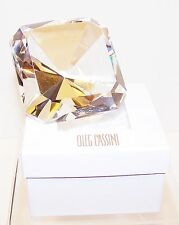 NEW Oleg Cassini Crystal CLEAR EMERALD DIAMOND Paperweight/Wedding Shower/Gift